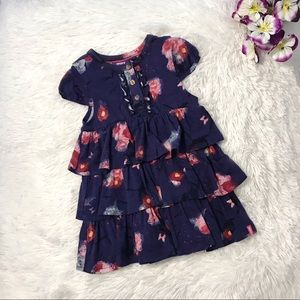 NWOT 🌸 Mexx Toddler Girl Floral Ruffled Dress 🌸